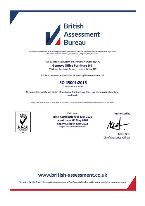 Genesys ISO 45001:2018 Certificate