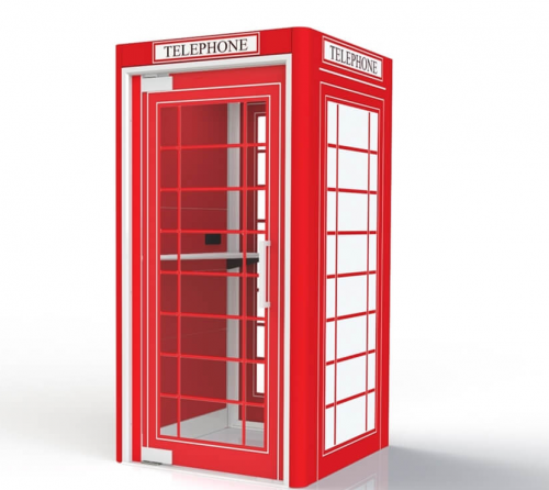 Oasis Linear Phone Booth