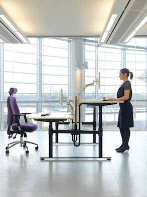 Isaac Sit Stand Bench Desk