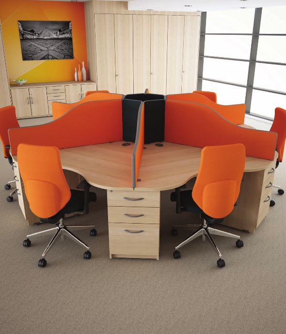 Circular Call Centre Desks
