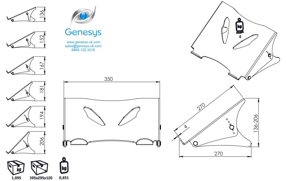 Dataflex 49 450 | ErgoNote Notebook / Laptop Stand HA 450 : Genesys