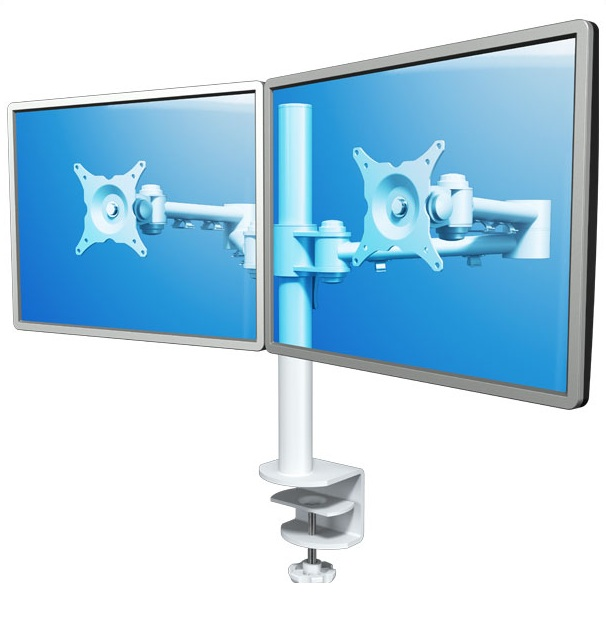 Dataflex 52.220 - Dual Monitor Arm | Double Monitor Arm - White