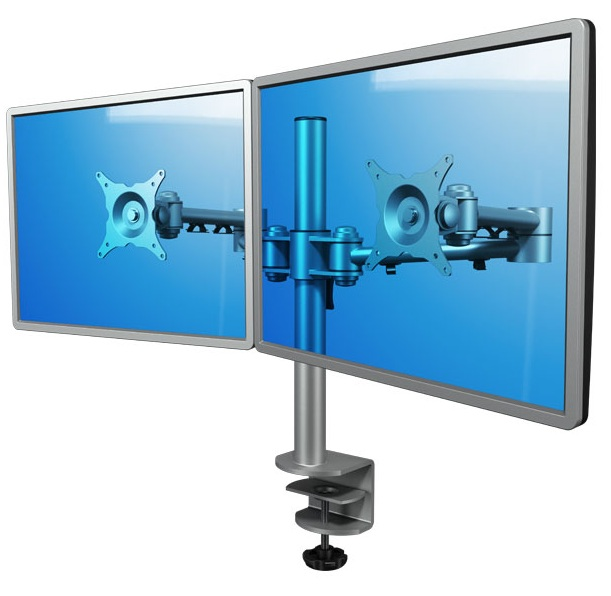Dataflex 52.222 - Dual Monitor Arm | Double Monitor Arm - Silver