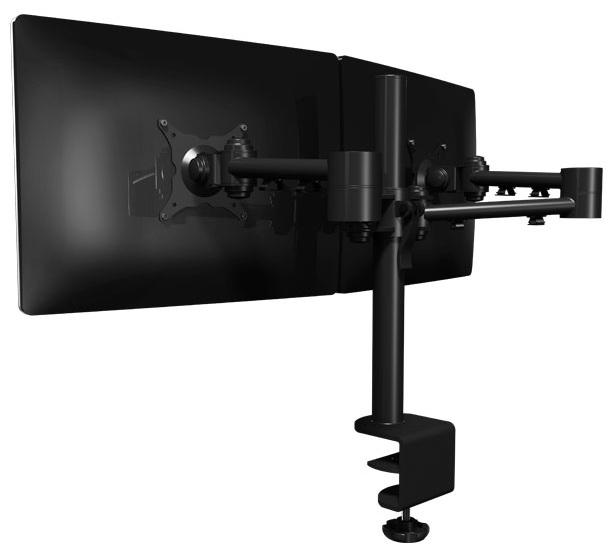 Dataflex 52 223 Dual Monitor Arm Black