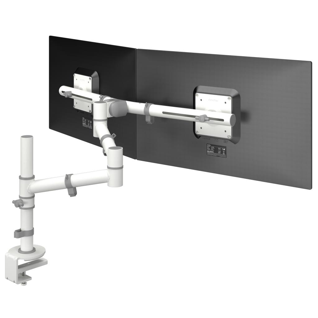 Dataflex Viewgo 48 130 Dual Monitor Arm White