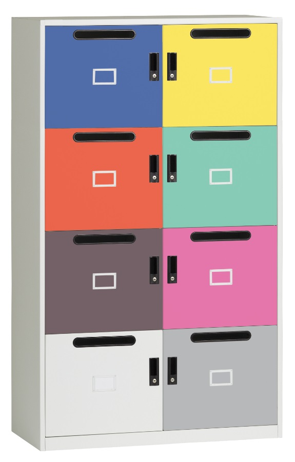 WHITE TRIUMPH 10 DOOR LOCKERS OFFICE STORAGE FILING