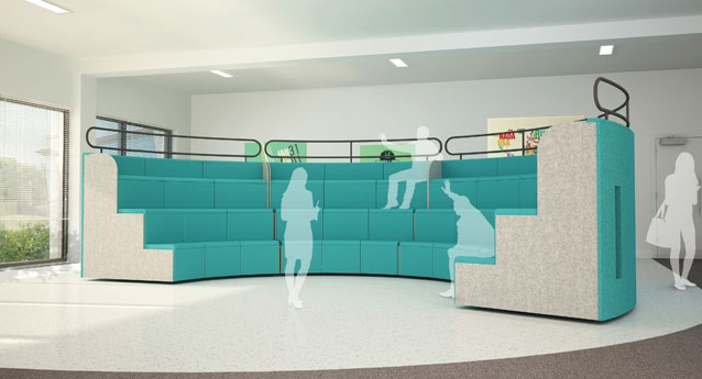 Modular Tiered Seating Mts 163 7 950 00 Genesys Office