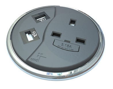 PortHole Desk Top Power And Data Module