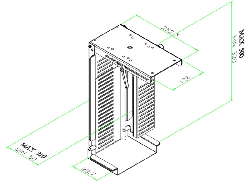 ABL CPU Holder Dimensions