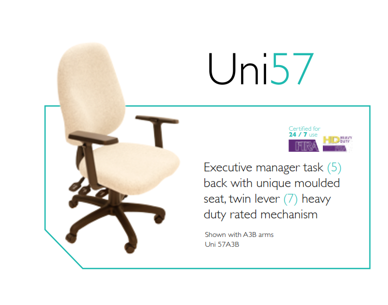 Uni57 24/7 Task Chair | Uni57 24/7 Operator Chair Image