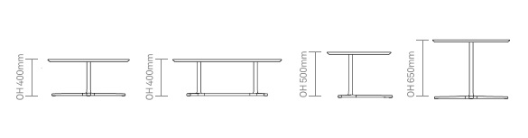 Talon Laptop and Occasional Tables Dimensions