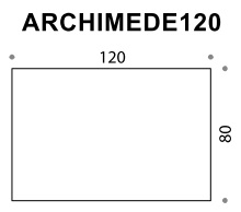 Archimede 120 Flip Top Folding Table - 1200mm x 800mm