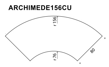 Archimede 156CU Shaped Flip Top Folding Table
