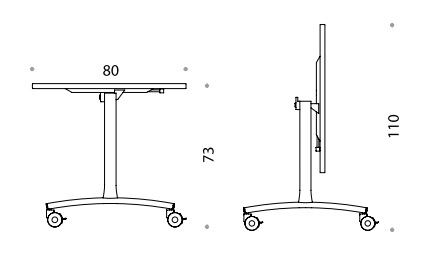 Archimede Folding Table - Line Drawing