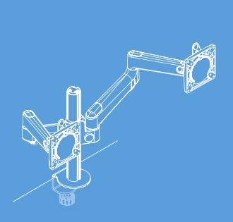 Lima Monitor Arm - Dual