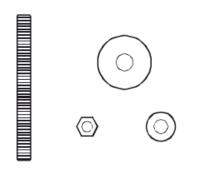 Wishbone Monitor Arm Through Desk Fixing Kit