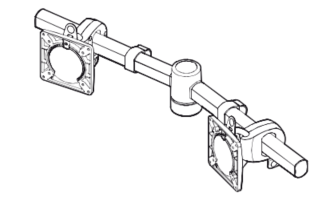 Wishbone Monitor Arm - Dual Bar
