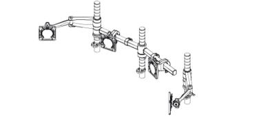 Wishbone Dual Bar With Wishbone Monitor Arms And Posts