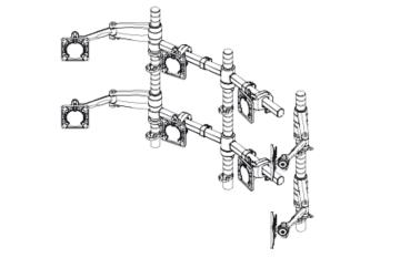 Wishbone Dual Bars With Wishbone Monitor Arms And Posts