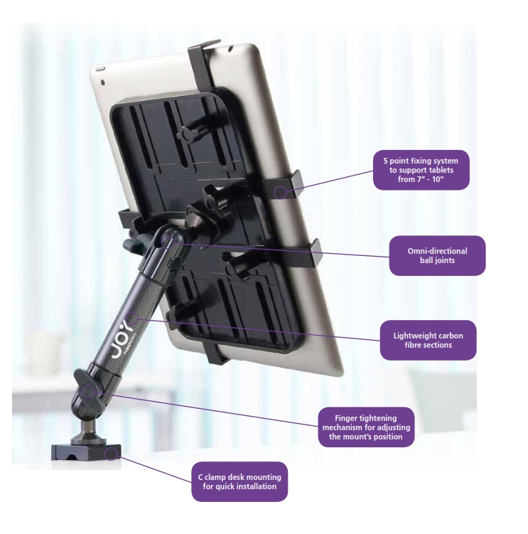 Unite Tablet Mount Clamp