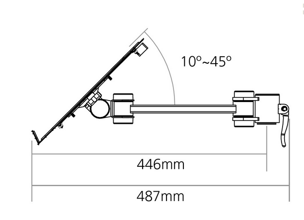 Vision S Laptop Support Dimensions
