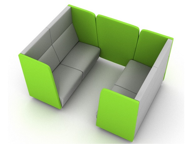 Hugo High Back Sofa - Booth With Link Panel