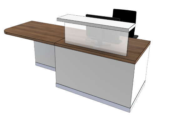 Classic Reception Desks SC1-R