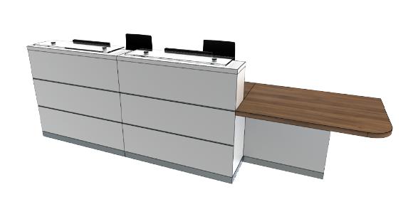 Eclypse Reception Desks YC2-L