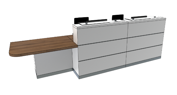 Eclypse Reception Desks YC2-R