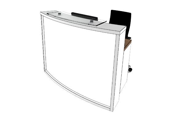 Light Reception Desk LB COMPACT