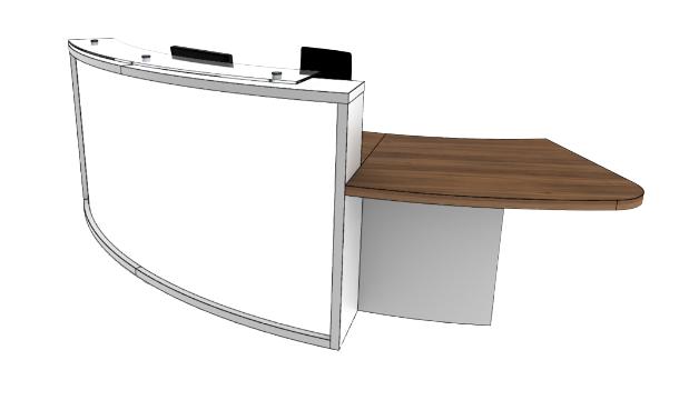 Light Reception Desk Models - LB2-L