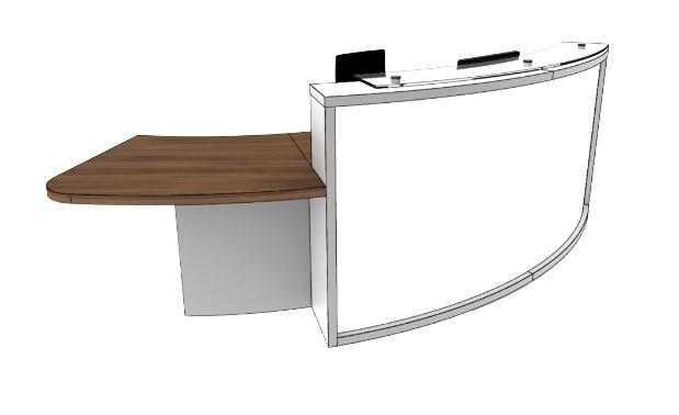 Light Reception Desk Models - LB2-R
