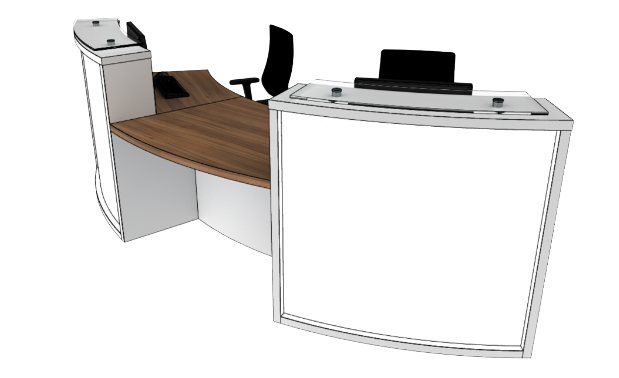 Light Reception Desk Models LB2