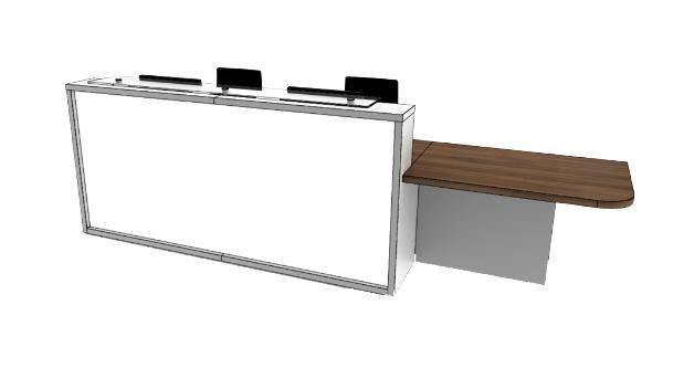 Light Reception Desk Models - LC2-L