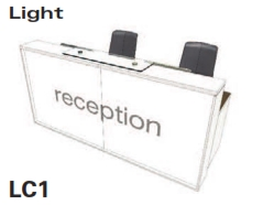 Light Reception Desk Models