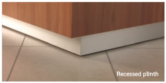 Light Reception Desk Recessed Plinth