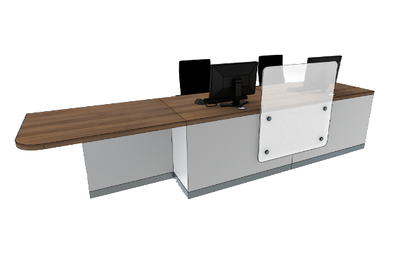Zed Reception Desk ZC2-R