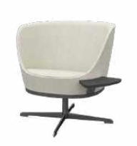 Dixi Soft Seating Image - Swivel with tablet