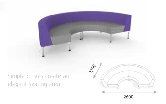 Hive With Legs - Semi-circular Bench Seat