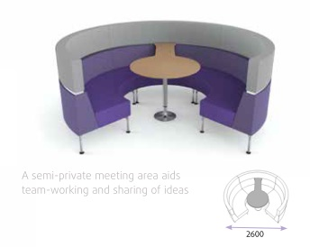 Hive With Legs - Curved Meeting Area