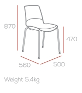 Ice Breakout Chair Dimensions: