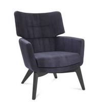 Kala Soft Seating - High back oak 4 leg base