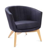 Kala Soft Seating - Low back oak 4 leg base