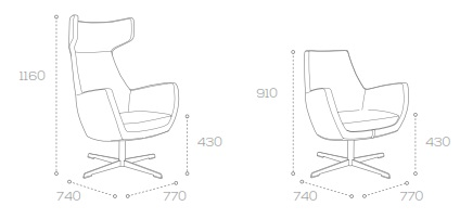 Mae Soft Seating - Dimensions