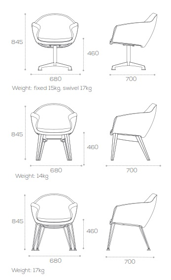 Mortimer Soft Seating - Dimensions