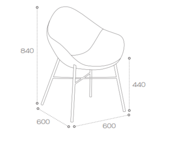 Pear Breakout Chair SPR1 Dimensions