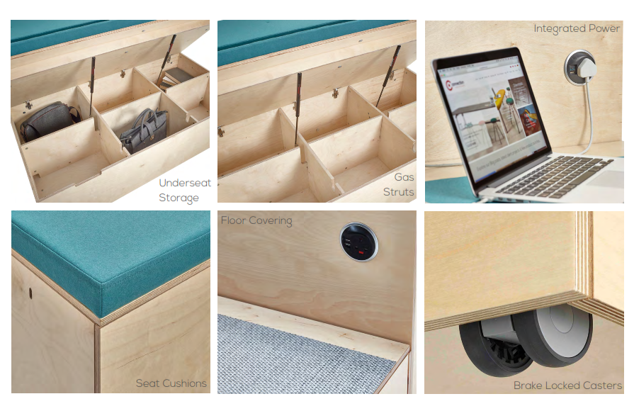 Platforms Modular Seating Collage