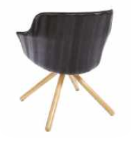 Rollie Chair - 4 Leg Swivel Broomstick Base