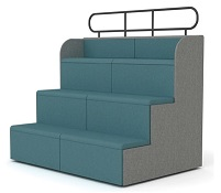 Steps Tiered Auditorium Seating - SSE2 Straight Unit - Dimensions