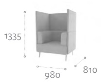 Thynk Soft Seating STK2 Dimensions